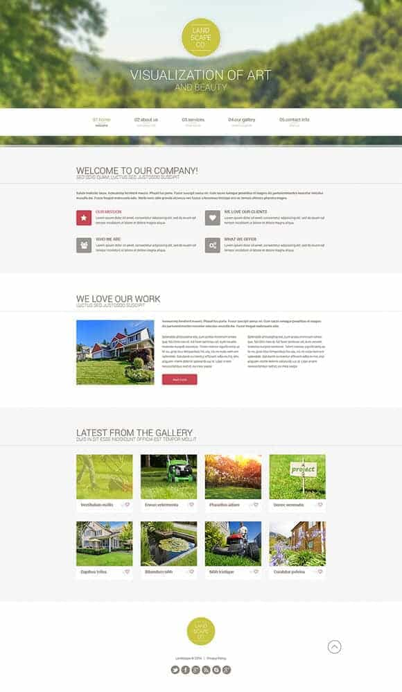 Landscape Website Templates