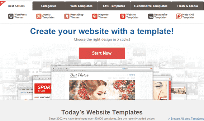 best places to Buy Website Templates