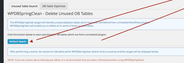 Delete Unused Database Tables in WordPress
