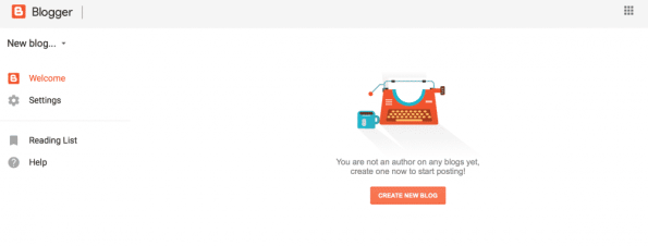Creating a free blog with Blogspot