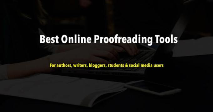 Online ProofReading Tools