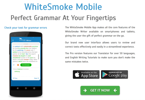 WhiteSmoke Mobile app