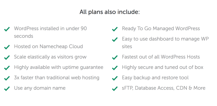 EasyWP hosting features