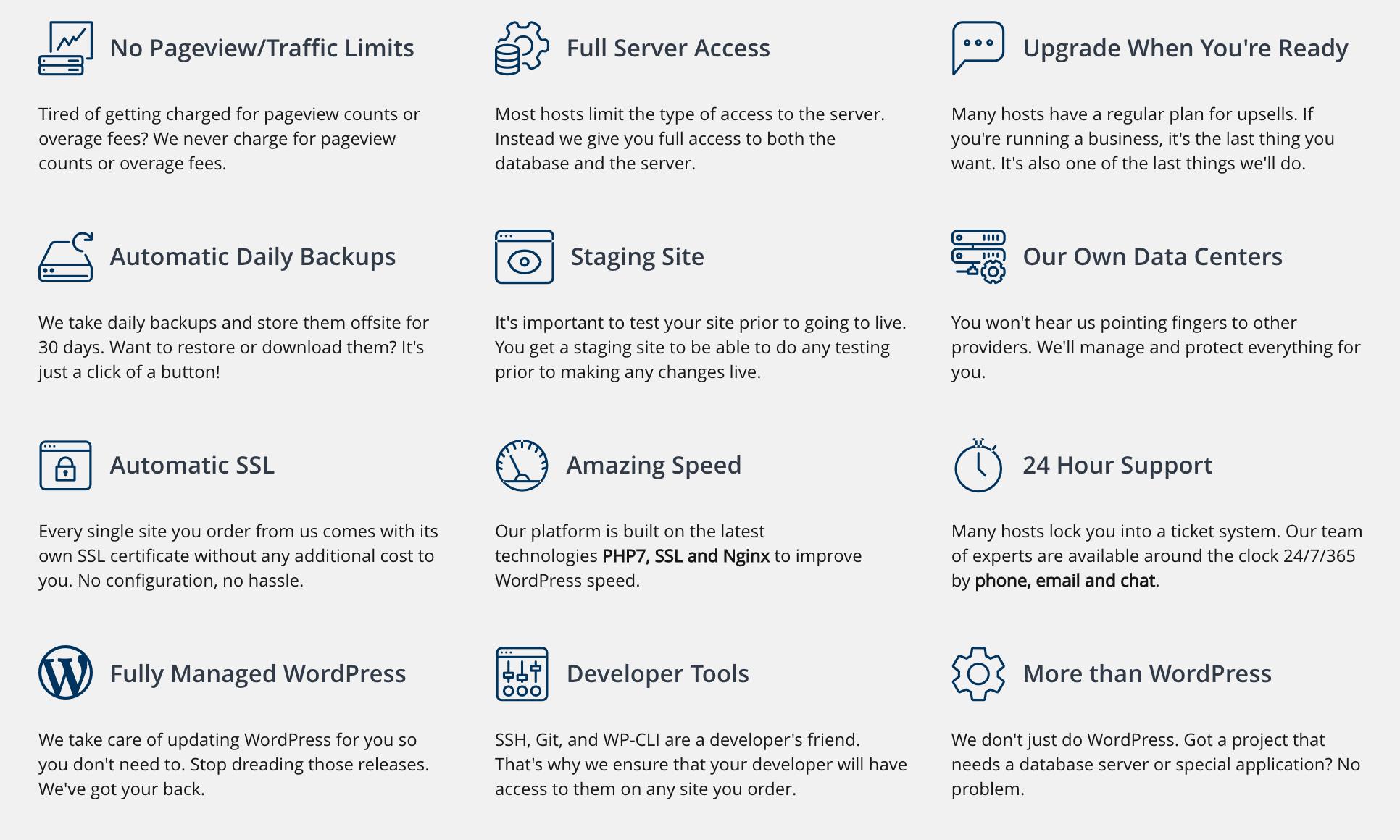 Liquid Web WordPress hosting features