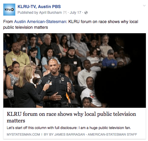 KLRU forum review