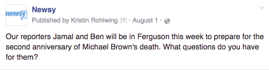 Newsy Ferguson crowdsource