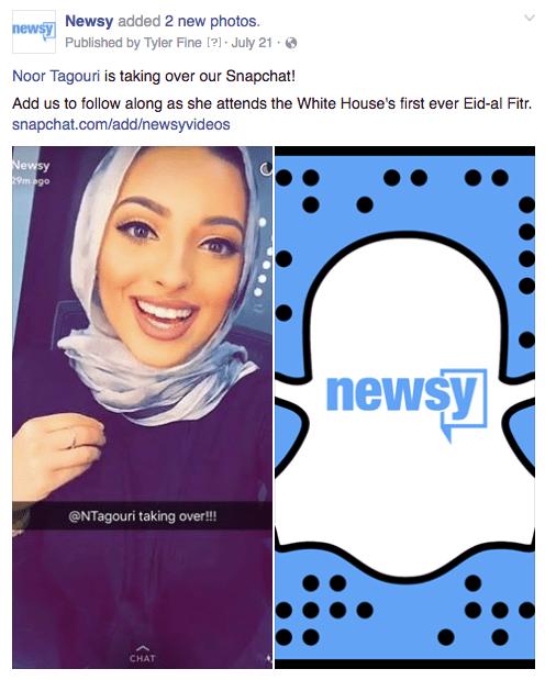 Newsy Snapchat White House