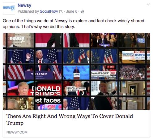 Newsy Trump coverage