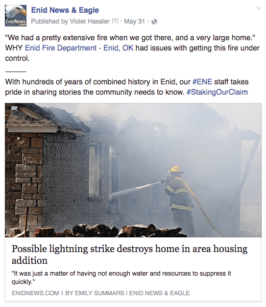 Enid fire explanation