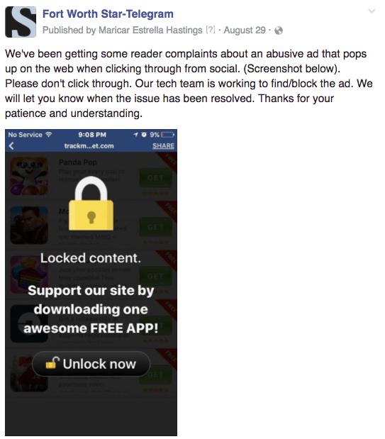 FW bad app