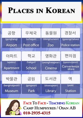 Places-in-Korean