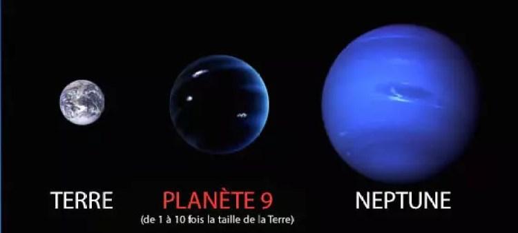 comparaison taille planete 9 terre neptune