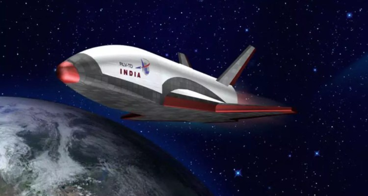 isro space shuttle rendu prototype