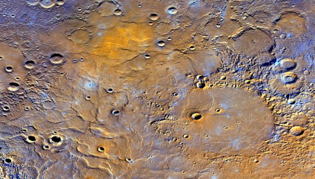 topographie mercure messenger nasa cratères roches