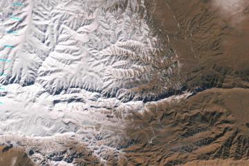 chutes de neige désert sahara