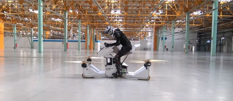 hover drone hoversurf hoverbike vol monoplace aéronef véhicule volant