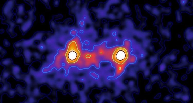 filaments de matière noire galaxie titre