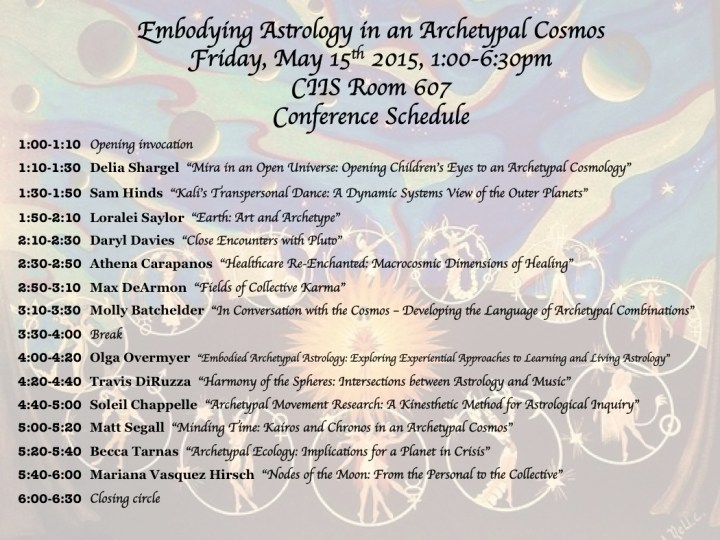 Embodying Astrology Conference 2015