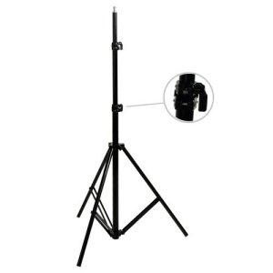 3.Cowboystudio 9 feet Heavy duty Cushioned Premium Black Light Stand for Video