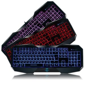4.AULA LED Backlit Gaming Keyboard