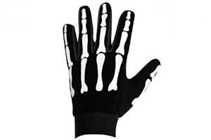 9. Skeleton Bones Biker Mechanic Gloves