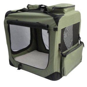 1.EliteField Sage Green 3-Door Soft Dog Crate