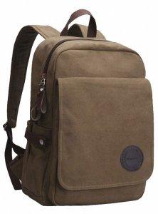 2.Vintage Canvas Laptop Backpack School College Rucksack Bag