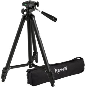 7. Ravelli APLT2 50 Lightweight Aluminum Tripod with Bag