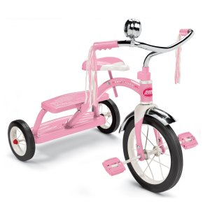 8. Radio Flyer Girls Classic Pink Dual Deck Tricycle