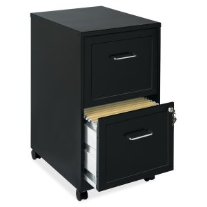 1.Lorell 2-Drawer Mobile Office File Cabinet