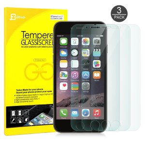 10. JETech 3-Pack Premium Tempered Glass Screen Protector for iPhone 6s