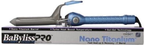 6. Babyliss Pro BABNT100S Professional Nano Titanium Spring Curling Iron