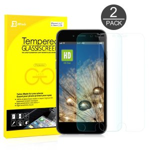 6. JETech 2-Pack Premium Glass Screen Protector for iPhone 6s