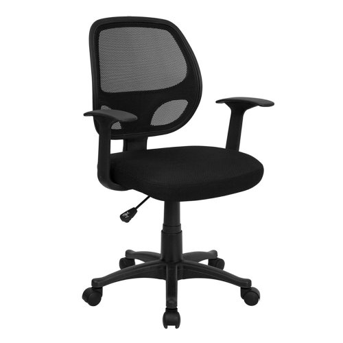 1. MidBack Black Mesh Swivel Task Chair