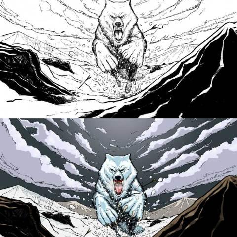 Adequate Commoner Wolf -- Digital Colouring