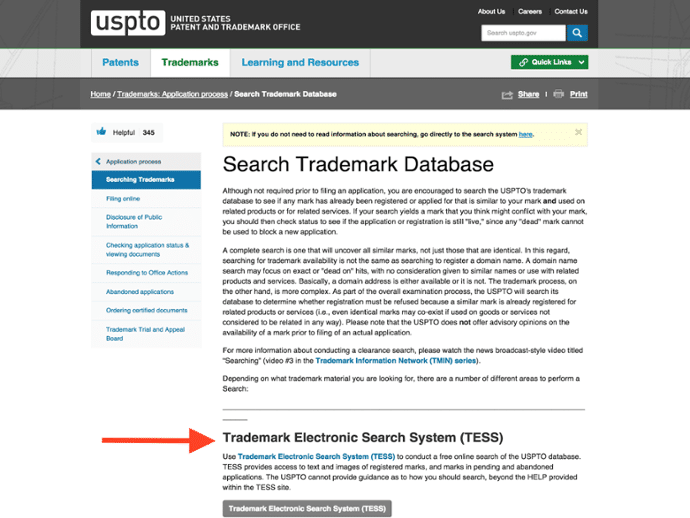 Trademark Electronic Search System (TESS) Help