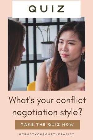 Conflict Negotiation Style Quiz