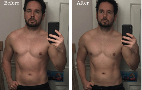 Before and after 24 hour fast picture