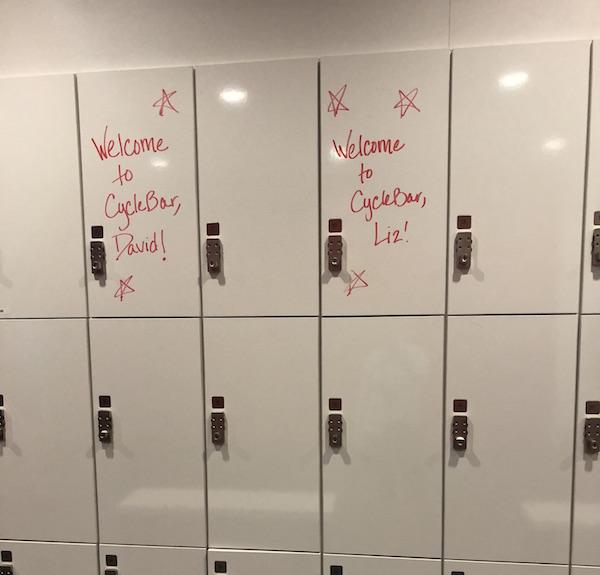 CycleBar locker room