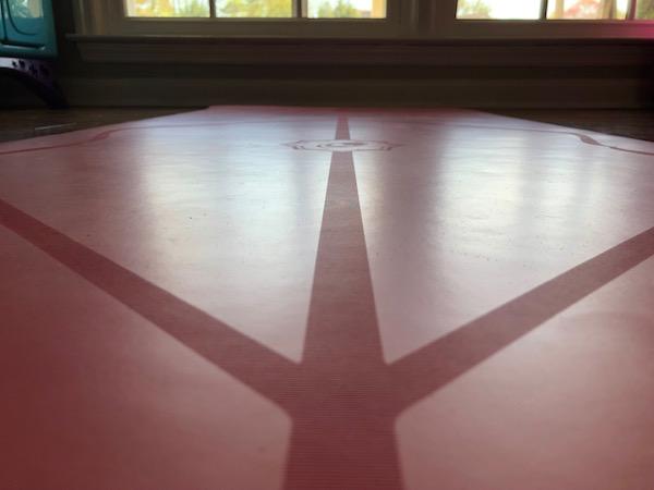 Liforma yoga mat alignment lines