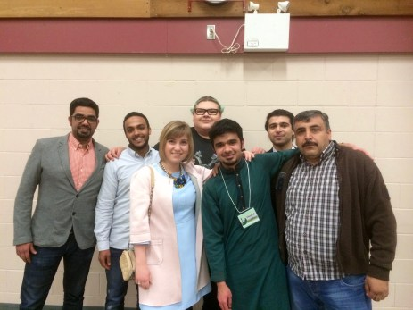 TRUSU Representatives at the fundraiser dinner for Syrian Refugees