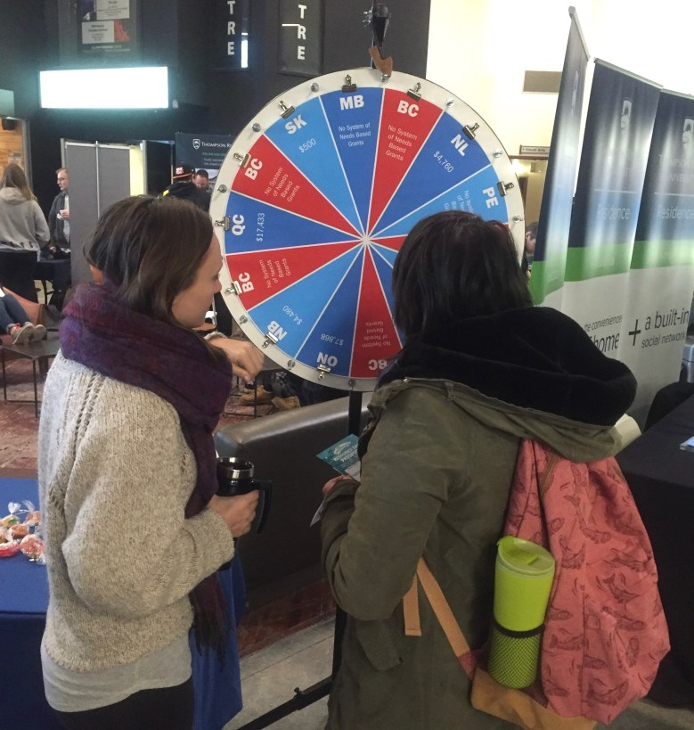 Spinning the Wheel of Provincial Grants