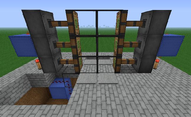 [minecraft]簡單做 2*3活塞自動門 (記錄) - f12072215的創作 - 巴哈姆特