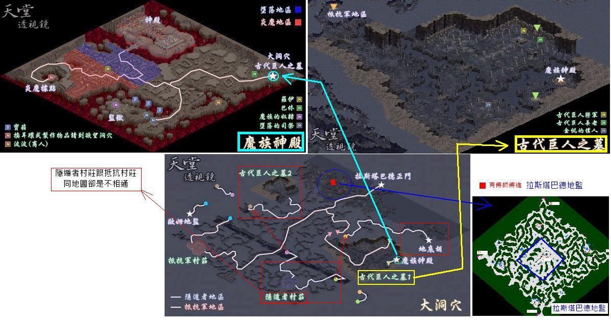 【攻略】拉斯塔德(魔族神殿+地監+大洞穴+古巨人區)導覽 @天堂Lineage 哈啦板 - 巴哈姆特
