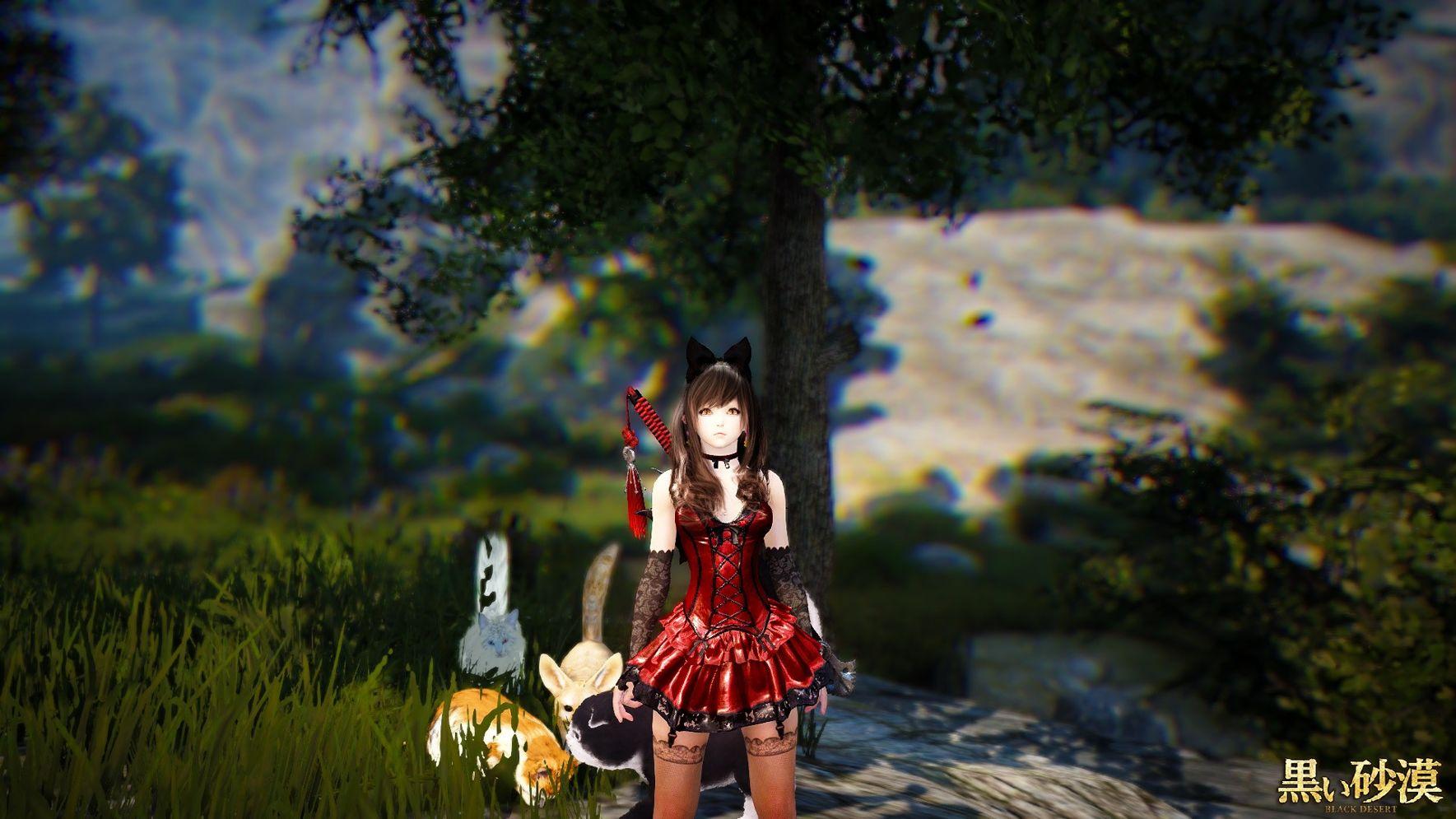 黑沙時裝染色2-波爾勒迪洋裝(紅配黑) - m58246的創作 - 巴哈姆特