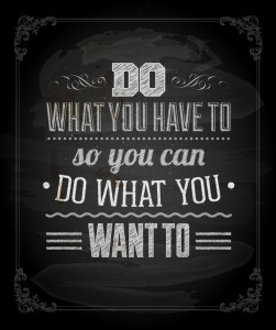 """Quote Typographical Background, vector design. """"Do what you have"""