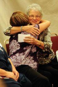 Margaret hugging Dara