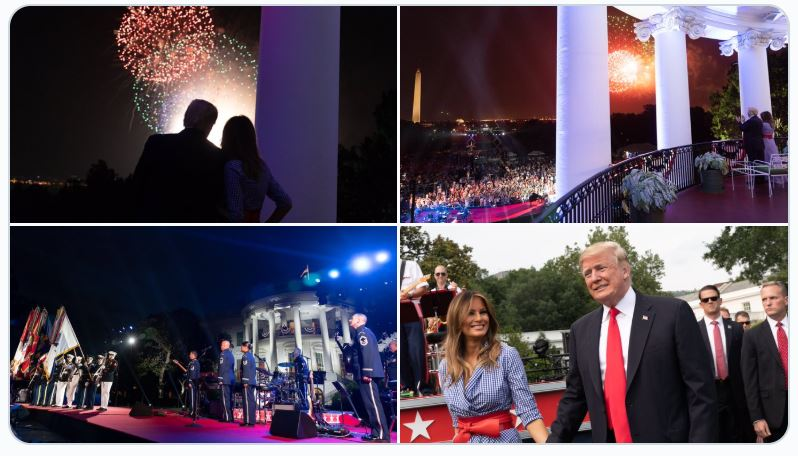 Trumps fourth of July