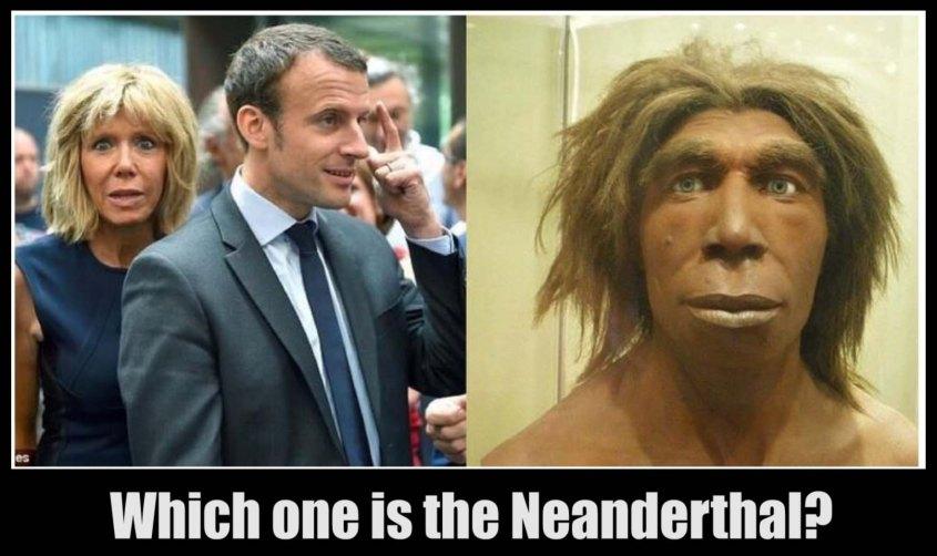 Macron neanderthal