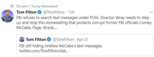 tom fitton tweet
